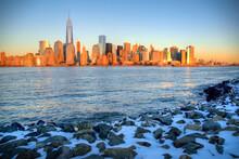 Manhattan Skyline Seen From Liberty State Park.