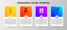 Set Stone Age Hammer, Roman Army Helmet, Portrait In Museum And Security Camera. Business Infographic Template. Vector.
