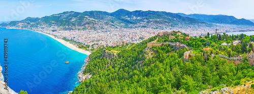 Fotografia Panorama of Alanya, Turkey