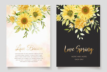 Beautiful Sunflower Invitation Card Set