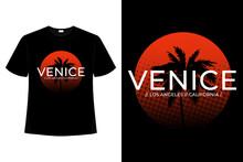 T-shirt Venice Beach California Sunset Vintage