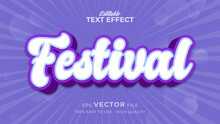Editable Text Style Effect - Festival Text Style Theme