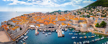 The Aerial View Of Dubrovnik, A City In Southern Croatia Fronting The Adriatic Sea