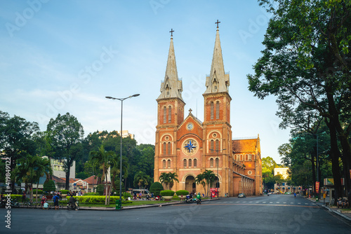 Foto Notre Dame Cathedral Basilica of Saigon in ho chi minh city, Vietnam
