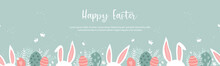 Cute Hand Drawn Easter Template, Cute Doodle Style, Great For Backgrounds, Banners, Wallpapers, Invitations, Flyer - Vector Design