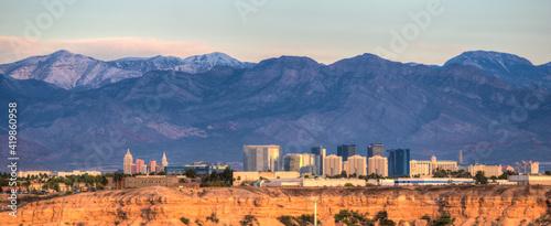 Las Vegas Skyline with hotels on strip. Las Vegas, Nevada. Fototapet