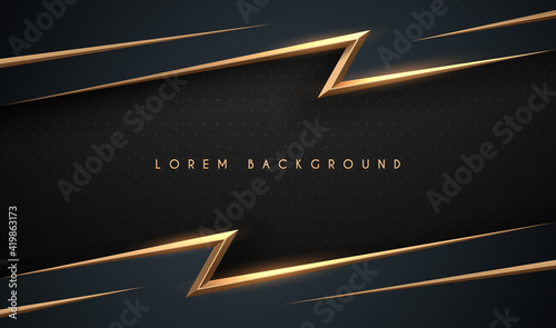 Abstract black and gold background Fotobehang