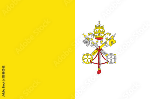The Vatican City flag, official colors and proportion correctly Fotobehang