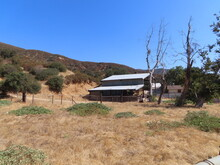 Abandoned Ranch In California Hills Barn Complex