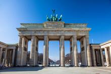 Brandenburg Gate And Blue Sky
