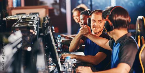 Fototapeta Professional cybersport team