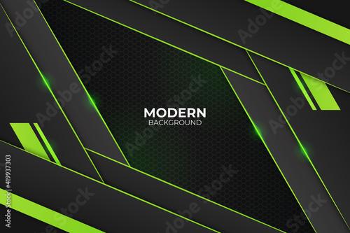Obraz Modern Diagonal Glow Green Background - fototapety do salonu