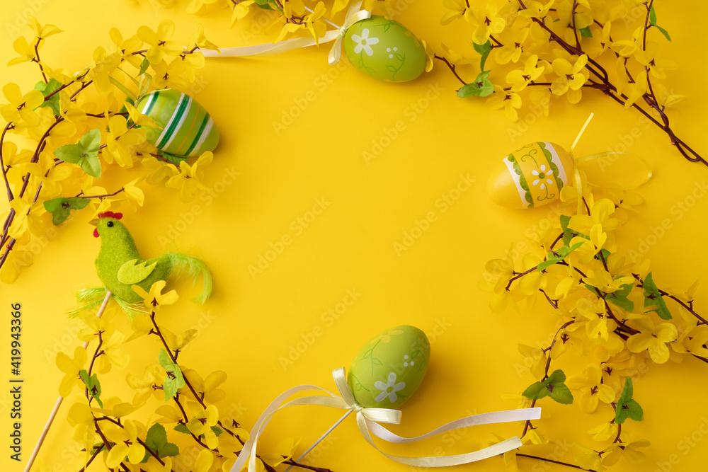 Fototapeta Wielkanoc, Easter, Wiosna, życie, jajka, żółty, Święta