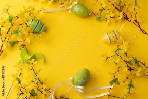 Fototapeta Wielkanoc, Easter, Wiosna, życie, jajka, żółty, Święta obraz