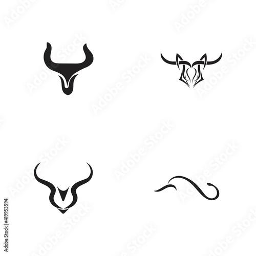Bull horn logo and symbols template icons app Fototapet