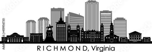 Photo RICHMOND Virginia USA City Skyline Vector