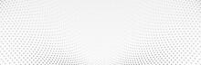 White Gray Background. 3d Dotted Surface. Futuristic Landscape. Technology Presentation Backdrop. Vector Illustration