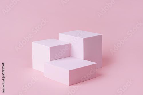 Geometric shapes podium for product display Fototapete