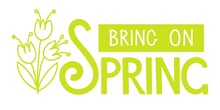 Bring On Spring Handwritten Lettering With Flower Bouquet On White. Season Illustration, Motivational Typography. Vector Spring Design For Poster, Banner, Card, Badge, T-shirt, Print, Icon, Logo.