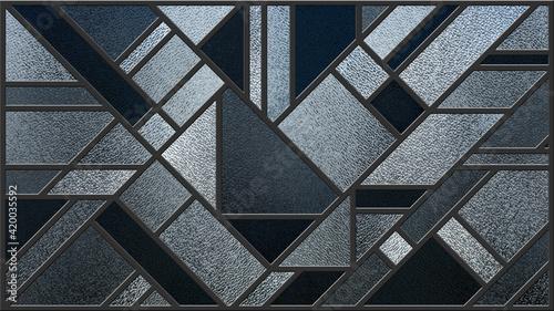 Fotografía Sketch of a grey stained glass window