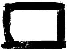 Grunge Style Frames Black On White Background