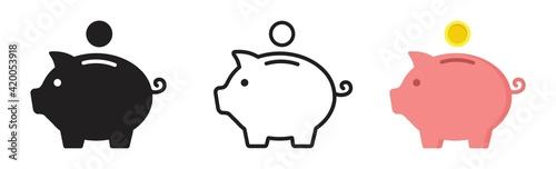 Fotografia Piggy bank icon