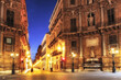 canvas print picture - Palermo City at night