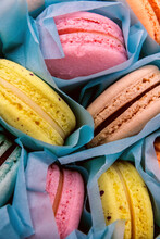 Colorful Close-up Macaroons