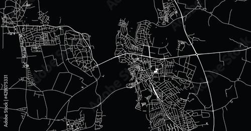 Photo Urban vector city map of Frederikssund, Denmark