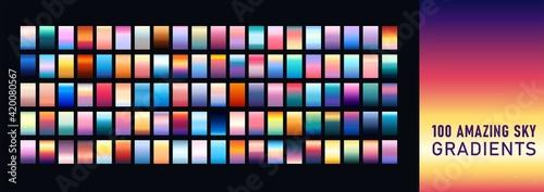 Fotografie, Obraz Amazing Sky Gradients Background Set