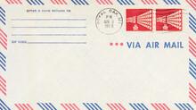 Luftpost Airmail Air Mail Vintage Retro Alt Old Post Letter Mail Brief Usa America Amerika Royal Oak Minnesota April 1968 Sterne Stars Red Rot