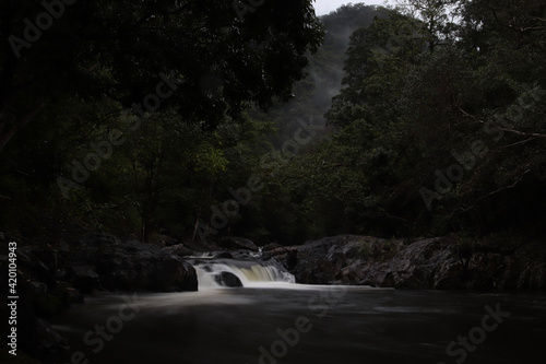 Canvas Print waterfall in the mountains