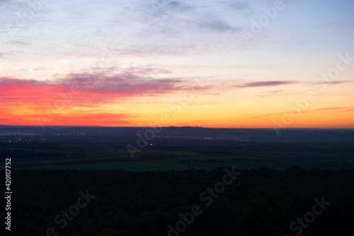 Fototapeta wschód słońca niebo chmury widok krajobraz obraz