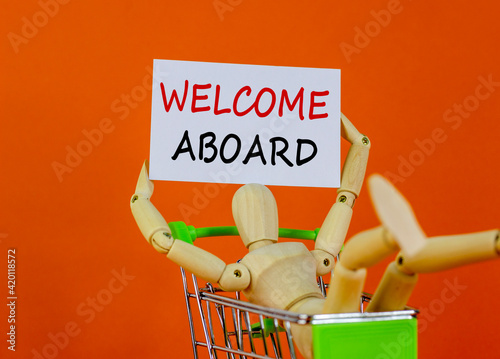 Photo Welcome aboard symbol