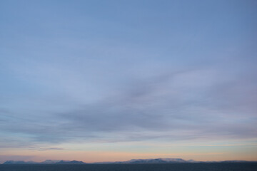 Sunset in the Moutains