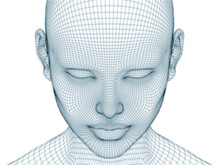 Human Face Wire Mesh