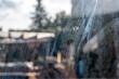 canvas print picture - Schlieren nach dem Putzen der Fenster durch falsches Putzmittel