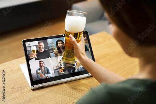 Virtual Beer Drink Online Party