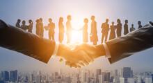ビジネスネットワーク チームワーク パートナーシップ