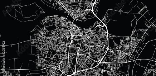 Fotografia Urban vector city map of Aalborg, Denmark