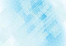 透明感のある青色の幾何学的な抽象背景 No.04