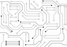 Circuit Technology Background With Hi-tech Digital