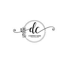 DC Beautiful Initial Handwriting Logo Template