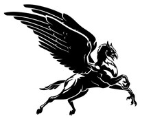 Hippogriff Flying Silhouette, Mythical Creature