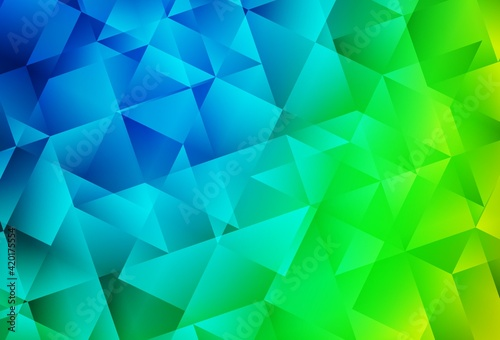 Fototapeta Light Blue, Green vector low poly background. obraz