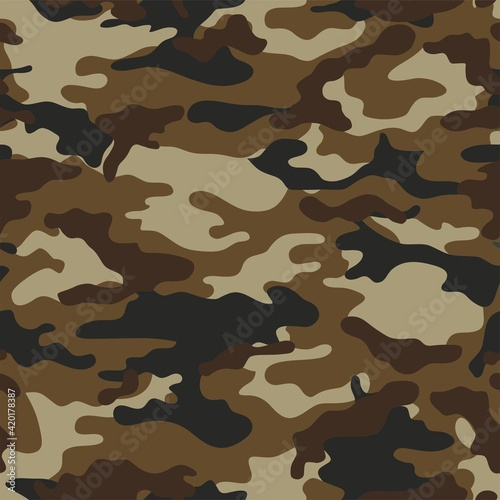 Canvastavla Vector seamless pattern of military camouflage