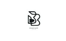 Alphabet Letter Initial B, BB Logo Premium Business Typeface, Minimal, Innovative Concept, Creative, Symbol, Company, Sign, Monogram, Vector, Startup, Template Graphic Design.