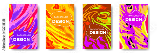 Fototapeta Abstract Colorful Background Vector for Banners, posters, websites, stories and patterns. obraz