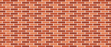 Brick Wall Background. Minimal Brick Wall Design Element For Banner Or Background. Vector