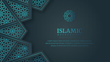 Islamic Arabic Arabesque Ornament Border Abstract Background With Copy Space For Text